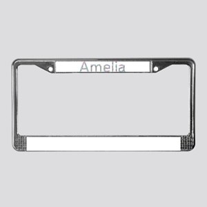 Amelia Paper Clips License Plate Frame