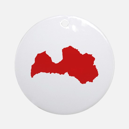 Latvia map Ornament (Round)