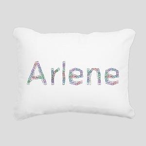 Arlene Paper Clips Rectangular Canvas Pillow