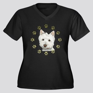 West Highland White and Paws Art Women's Plus Size