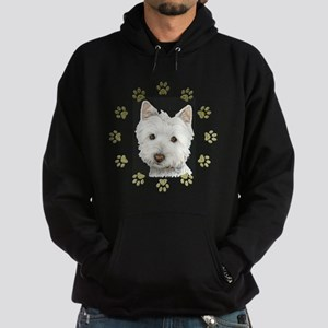 West Highland White and Paws Art Hoodie (dark)