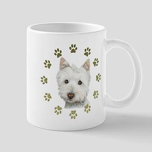 West Highland White and Paws Art Mug
