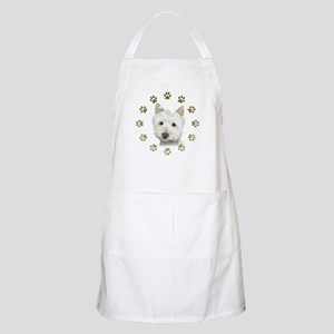 West Highland White and Paws Art Apron
