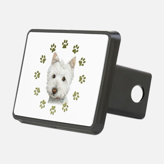 West Highland White and Paws Art Hitch Cover