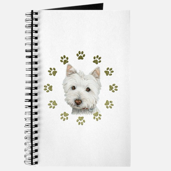 West Highland White and Paws Art Journal