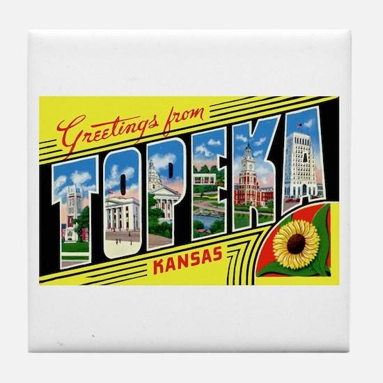 Topeka Kansas Greetings Tile Coaster