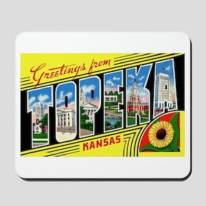 Topeka Kansas Greetings Mousepad