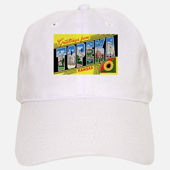 Topeka Kansas Greetings Baseball Baseball Cap
