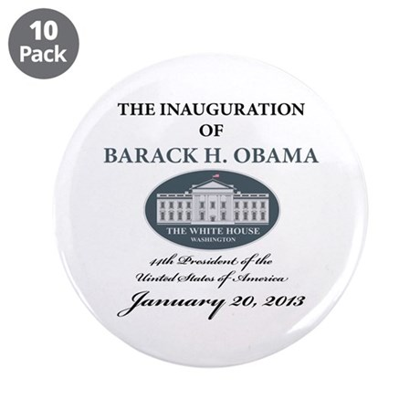 """2013 Obama inauguration day 3.5"""" Button (10 pack)"""