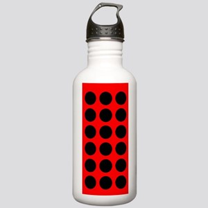 Red Black Dots are Back Designer Stainless Water B