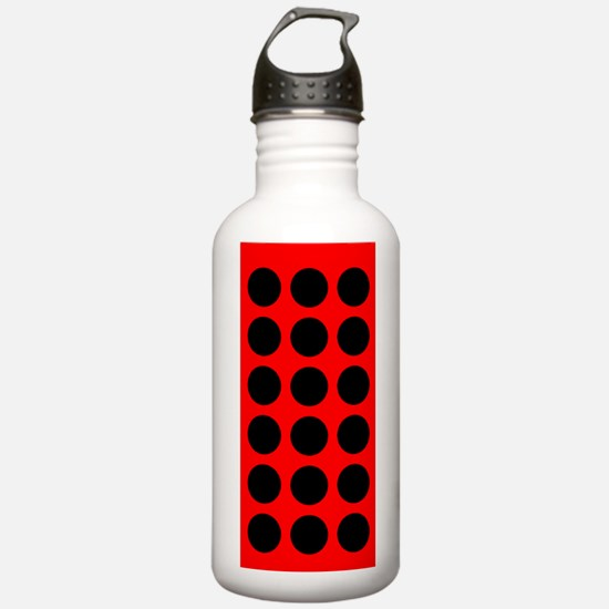 Red Black Dots are Back Designer Water Bottle