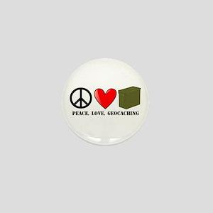 Peace, Love, Geocaching Mini Button