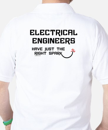Electrical Engineers Sparks Golf Shirt