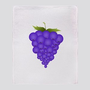 Buncha Grapes Throw Blanket