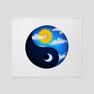 Day & Night Yin Yang Throw Blanket