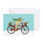 Dog and Squirrel Holiday Greeting Card