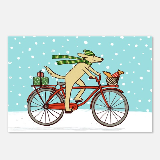 Dog and Squirrel Holiday Postcards (Package of 8)