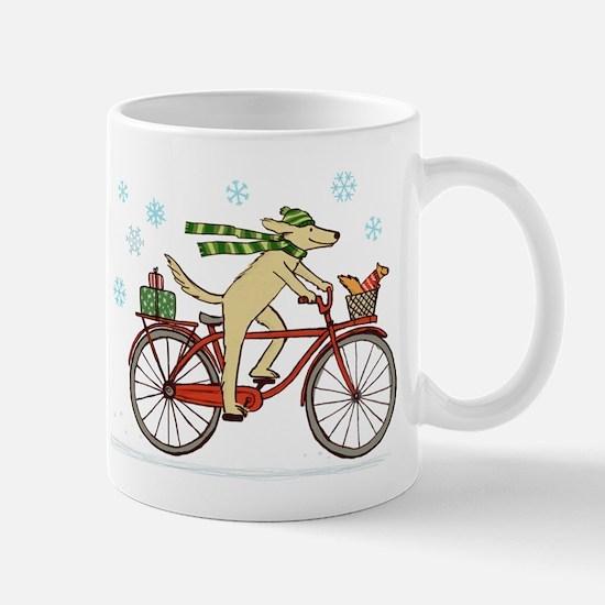 Dog and Squirrel Holiday Mug