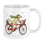 Dog and Squirrel Holiday Mug