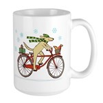 Dog and Squirrel Holiday Large Mug