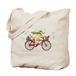 Dog and Squirrel Holiday Tote Bag