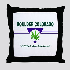 Boulder Colorado Marijuana Throw Pillow