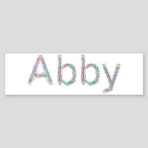 Abby Paper Clips Bumper Sticker
