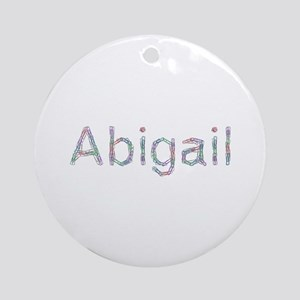 Abigail Paper Clips Round Ornament