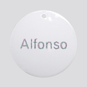 Alfonso Paper Clips Round Ornament