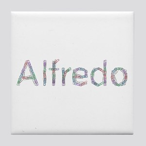 Alfredo Paper Clips Tile Coaster