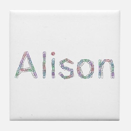 Alison Paper Clips Tile Coaster