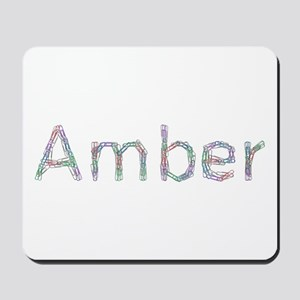Amber Paper Clips Mousepad