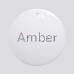 Amber Paper Clips Round Ornament