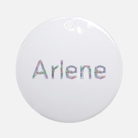 Arlene Paper Clips Round Ornament