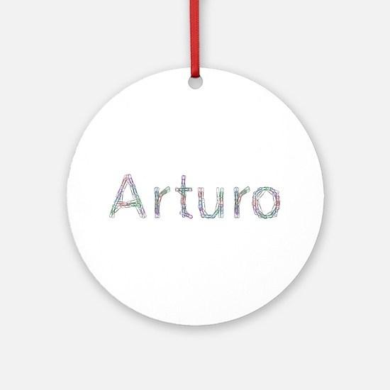 Arturo Paper Clips Round Ornament