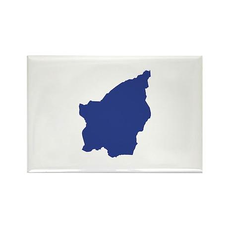 San Marino map Rectangle Magnet (100 pack)