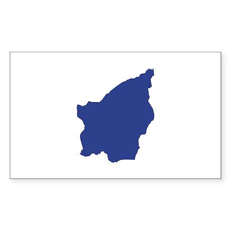 San Marino map Sticker (Rectangle)