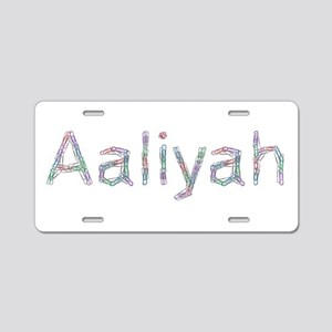 Aaliyah Paper Clips Aluminum License Plate