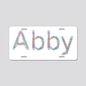 Abby Paper Clips Aluminum License Plate