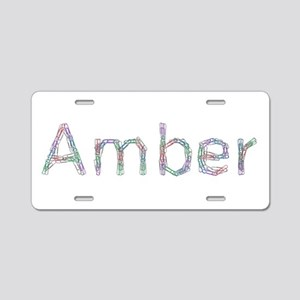 Amber Paper Clips Aluminum License Plate