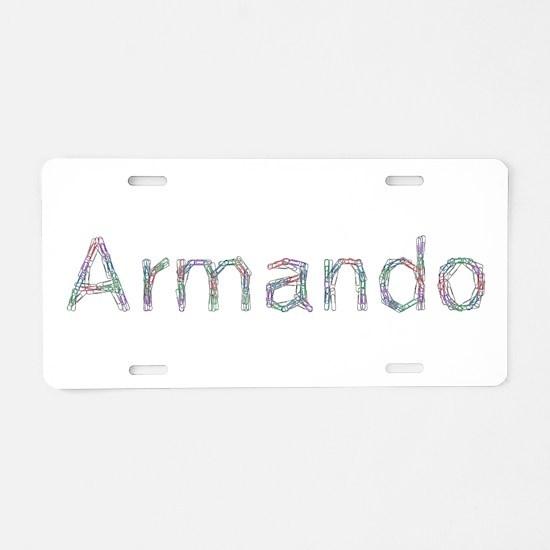Armando Paper Clips Aluminum License Plate