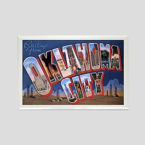 Oklahoma City Oklahoma Rectangle Magnet