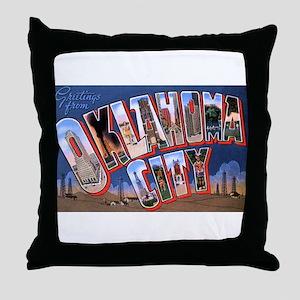 Oklahoma City Oklahoma Throw Pillow