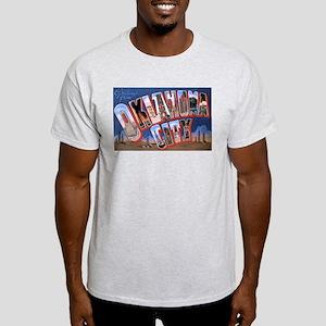 Oklahoma City Oklahoma (Front) Ash Grey T-Shirt