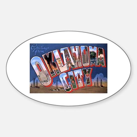 Oklahoma City Oklahoma Oval Decal