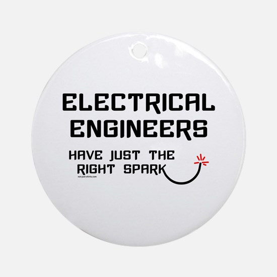 Electrical Engineers Sparks Ornament (Round)