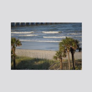 Beach Time Rectangle Magnet