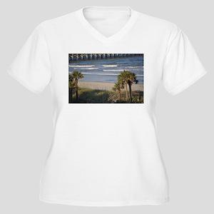 Beach Time Women's Plus Size V-Neck T-Shirt