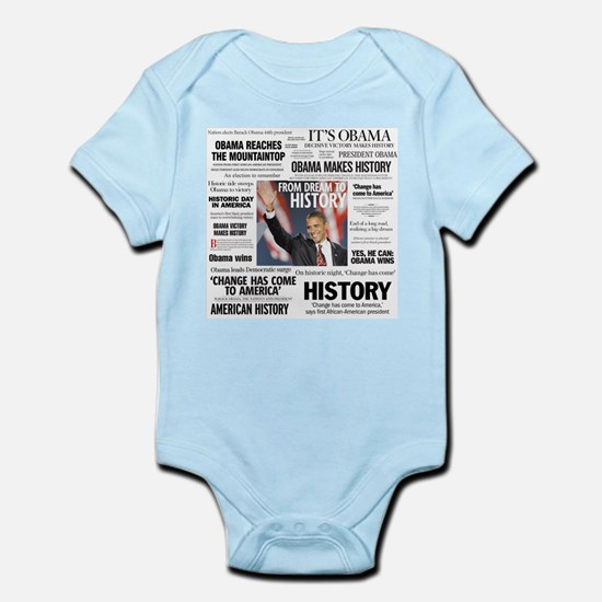 Obama Headline Collage Square Infant Bodysuit