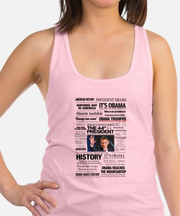 Obama: The 44th President Collage Racerback Tank T
